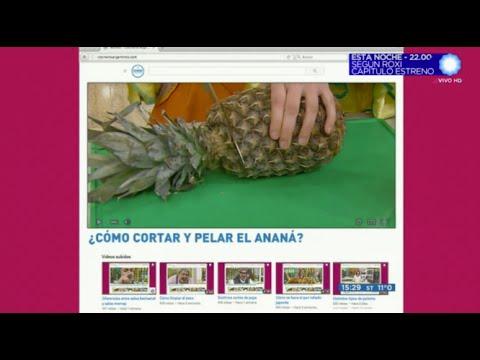 Cómo cortar y pelar el ananá