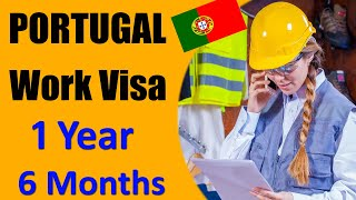 POPORTUGAL WORK VISA for 1 year & 6 months   Portugal visa for work options