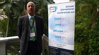 Prof. Nello Scarabottolo at CSEIT Conference 2015 by GSTF - Global Science