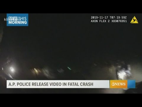 A.P. Police Department releases video from fatal crash
