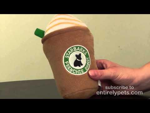 Starbarks Frenchie Roast Latte Squeaker Plush Toy Video