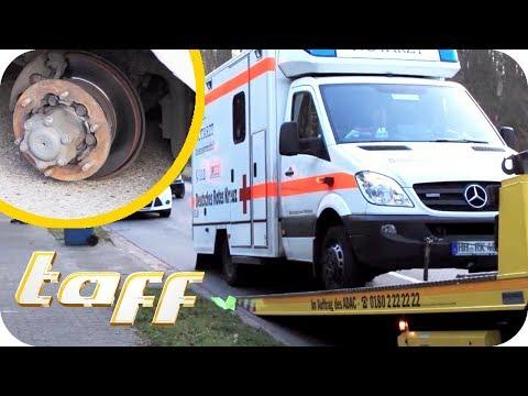 Wahnsinn! Wer löst die Radmuttern von Rettungswagen und beklaut Lebensretter? | taff | ProSieben