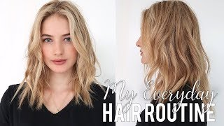 Hair Care Routine | Going Blonde, Healthy Thick Hair, & Beach Waves Styling |  Sanne Vloet