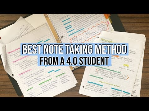 BEST NOTE TAKING METHOD from a 4.0 Student