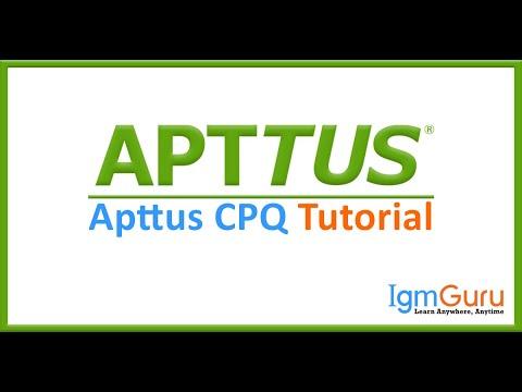 Apttus CPQ Training Apttus Tutorial  Apttus Certification Apttus CPQ ...