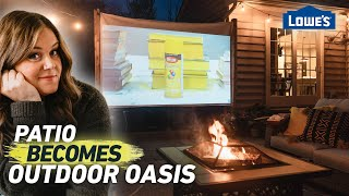 Transform Your Patio Into An Outdoor Oasis And Movie Theater | Home Becomes (Ep6)