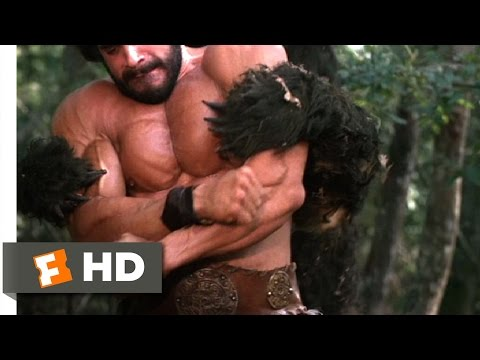 1983, Hercules. Lou Ferrigno throws a bear into space.