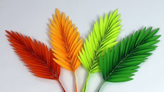 Easy Paper Leaf । Paper Leaves Making । Paper Crafts For School । DIY Paper Leaves Making