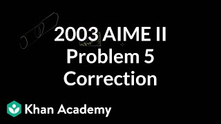 2003 AIME II Problem 5 Minor Correction