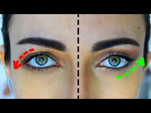 How To Sculpt Downturned Droopy Eyes (NATURAL LOOK) | MakeupAndArtFreak