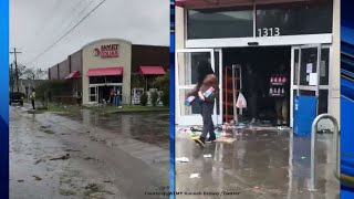 RAW VIDEO: Looting at Wilmington Family Dollar after Hurricane Florence