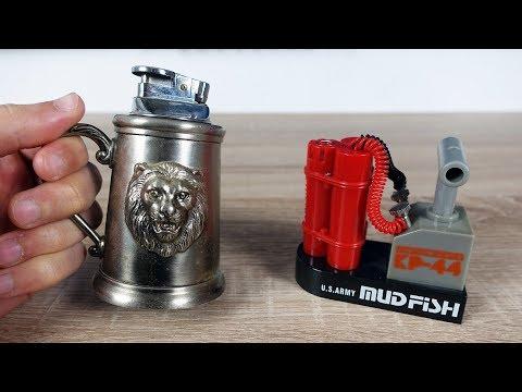 22 außergewöhnliche und besondere Feuerzeuge aus einer Ebay Kleinanzeigen Sammlung!