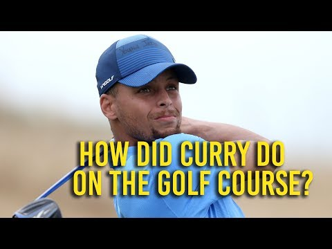 Curry has inauspicious start to first pro golf tournament