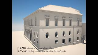 3D historical reconstruction of the Rector's Palace in Dubrovnik