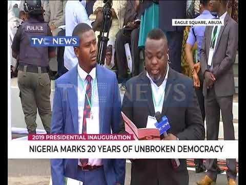 TVC News Corespondents, Ayodele Ozugnbakun and Femi Akande give up on Presidential Inauguration