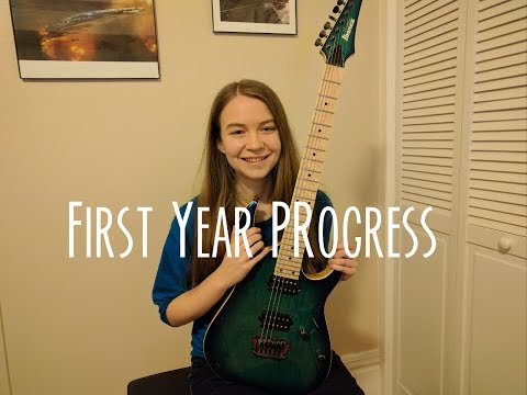 First Year Playing the Electric Guitar – Month by Month Progress