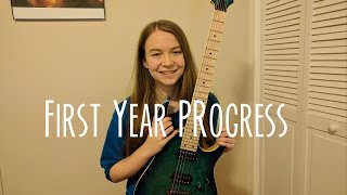 First Year Playing The Electric Guitar   Month By Month Progress