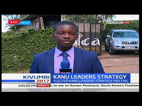 Kitusuru newly elected KANU leaders hold a meeting