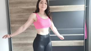 GYM OUTFITS WITH LEATHER LEGGINGS | LOOKBOOK