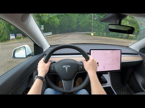 2021 Tesla Model Y Standard Range - POV Test Drive (Binaural Audio)