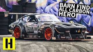 Carbon Fiber Bodied, V8 Powered 240z: Can a Road Racer Shred our Yard??