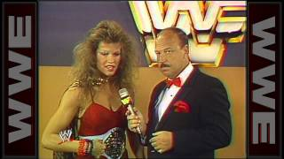 Mean Gene Okerlund has a laugh at Wendi Richter's comments: TNT, May 24, 1985