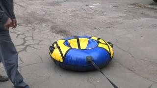 Ватрушки для катания зимой от компании Сириус-текс — собственное производство спасательных жилетов - видео 1