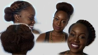 3 Quick Hairstyles For Medium Length Natural Hair