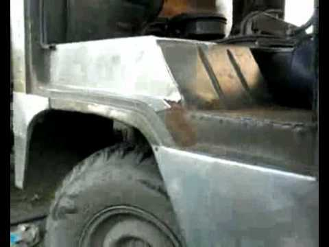 уаз-452,-3303 ремонт кузова за час.