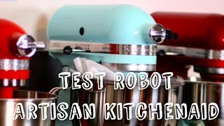 DEMONSTRATION ET TEST ROBOT PATISSIER | ROBOT ARTISAN KITCHENAID 4,8L