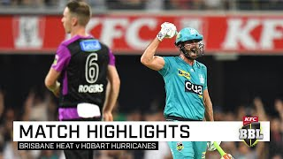 Brisbane Heat overcame a spirited fightback from the Hobart Hurricanes to continue their winnings way in front of a fired-up crowd at the Gabba