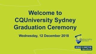 CQUniversity Sydney Graduation Ceremony Dec 2018