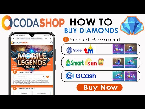 How to Buy Mobile Legends Diamonds using Codashop