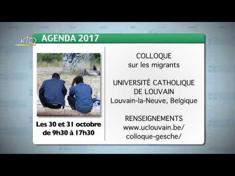 Agenda du 22 septembre 2017
