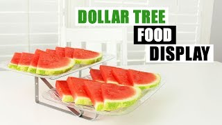 DIY DOLLAR TREE FOOD DISPLAY TRAY Summer Party Serving Tray