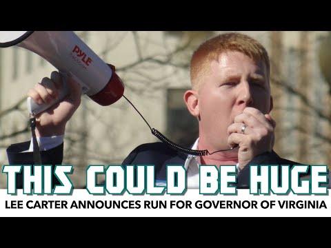 Lee Carter Announces Run For Governor Of Virginia