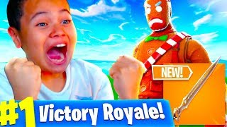 *NEW* SWORD IN FORTNITE IS LIKE THANOS!! *ITS OVERPOWERED!* FORTNITE BATTLE ROYALE 10 YEAR OLD KID!