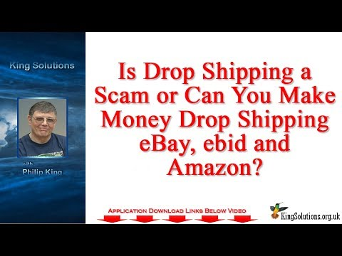 Is Drop Shipping a Scam or can You Make Money Drop Shipping eBay ebid and Amazon