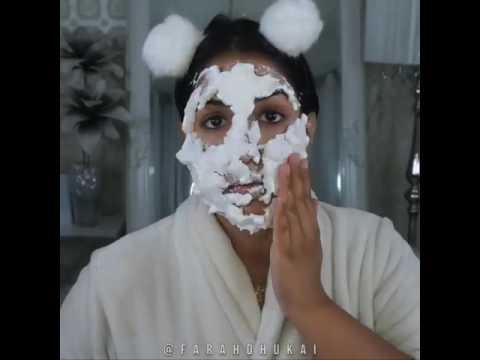 Facial mask na may protina at almirol langis