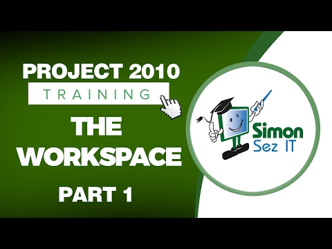 Microsoft Project 2010 Video Training Tutorial - The Workspace ...