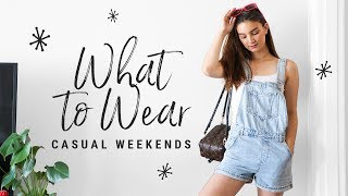 WHAT TO WEAR on casual weekends!  talk-through summer lookbook!