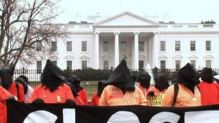 Protesters march on 10 year anniversary of Guantanamo prison