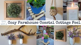 Cozy Farmhouse Coastal Cottage DIY Home Decor | DIY Trash To Treasure | Coffee With My Sunshine 🌞