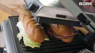Рецепт сэндвичей на гриле BORK G802 от Григория Конюхова