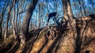 A fun part of building new trail is Testing some new features for the first time.