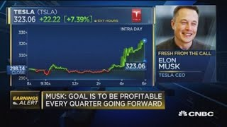 Goal to be profitable every quarter going forward: Musk
