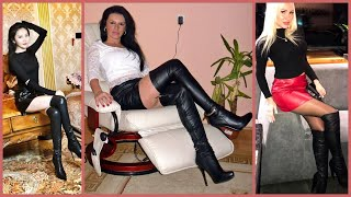 Classy And Stunning Skin Tight Leather Mini Skirts Outfits Ideas