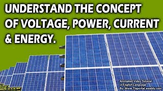 3- Voltage Current And Power | Basics of Solar Energy