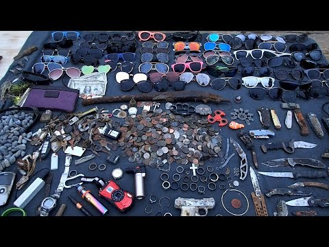 2017 River Finds! - iPhones, Knives, Rings, Sunglasses and a Pile of Money!