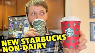 Starbucks NEW Non-Dairy Drinks Review: Almondmilk Honey Flat White & Coconut Latte! - Maxs Munchies